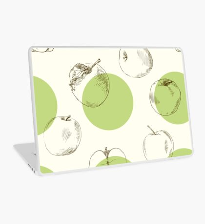 seamless pattern made of scattered decorative apples Laptop Skin