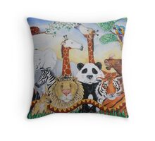 Amazing Animals Throw Pillow