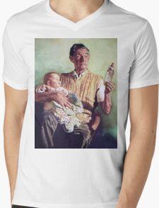 Babysitting Mens V-Neck T-Shirt
