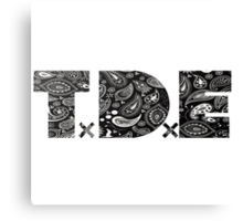 TDE Gangster Black Bandanna  Canvas Print