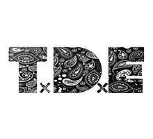 TDE Gangster Black Bandanna  Photographic Print