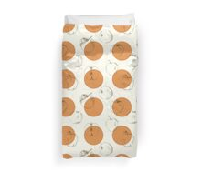 seamless pattern made of scattered decorative apples Duvet Cover