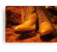 Victorian boots Canvas Print