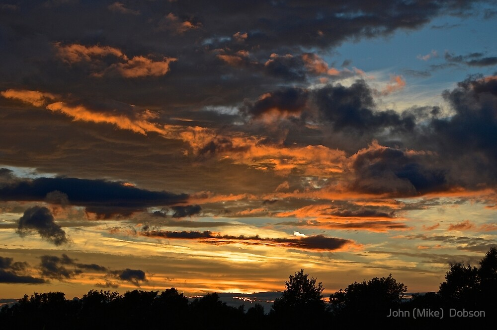 Sunset in Yorkshire by John (Mike)  Dobson