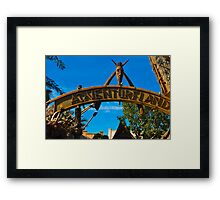 Adventureland Entrance Framed Print