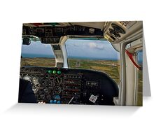 Short Final - Alderney Greeting Card