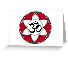 Aum Seed of Life Red Greeting Card