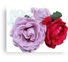 Bouquet of Garden Roses - Hipster/Pretty/Trendy Flowers Canvas Print