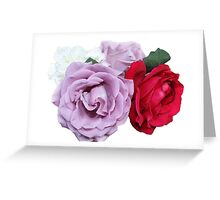 Bouquet of Garden Roses - Hipster/Pretty/Trendy Flowers Greeting Card