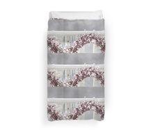 Red Berry Iced Wreath Duvet Cover