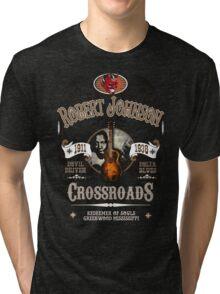 Robert Johnson Devil Driven Delta Blues  Tri-blend T-Shirt