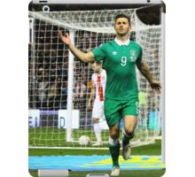 Shane Long celebrates scoring for Ireland iPad Case/Skin