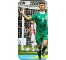 Shane Long celebrates scoring for Ireland iPhone Case/Skin