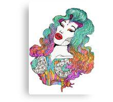 Amanda Lepore Galactic Barbie Canvas Print