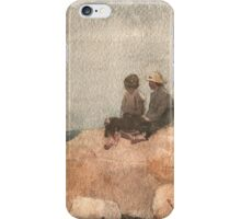 Winslow_Homer_- Two boys watching schooners, 1880 iPhone Case/Skin