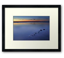 Blue Pebbles Framed Print