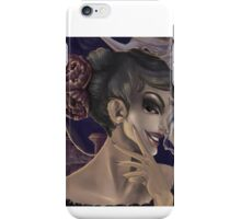 Who's the fairest of them all? skull mirror digital painting iPhone Case/Skin