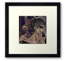 Who's the fairest of them all? skull mirror digital painting Framed Print
