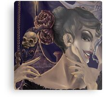Who's the fairest of them all? skull mirror digital painting Metal Print