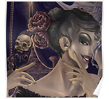 Who's the fairest of them all? skull mirror digital painting Poster
