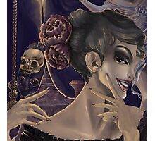 Who's the fairest of them all? skull mirror digital painting Photographic Print