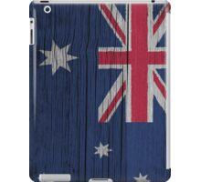 """Australia """"painted on wood"""" flag iPad Case/Skin"""