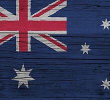 "Australia ""painted on wood"" flag by JohnLucke"