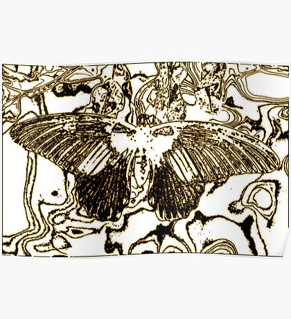Ink Butterfly Poster