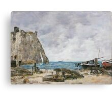 1396475652-eugene-louis-boudin-french-1824-1898-beach-at-etretat Canvas Print