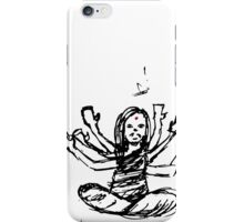 Hindu Jesus Scribble Doodle iPhone Case/Skin
