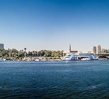 Nile Riverfront at Cairo, Egypt Panorama by Sue Martin