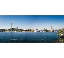 Nile Riverfront at Cairo, Egypt Panorama Photographic Print