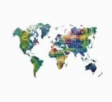 Map of the world geometric Kids Clothes