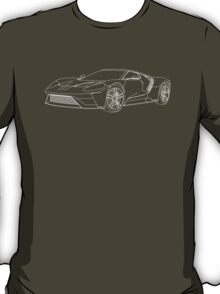 2016 Ford GT, Forza 6 Motorsport Game Cover Car, White no Fill T-Shirt