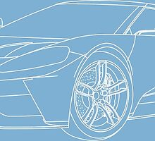 2016 Ford GT, Forza 6 Motorsport Game Cover Car, White no Fill by Adamasage