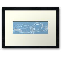 2016 Ford GT, Forza 6 Motorsport Game Cover Car, White no Fill Framed Print