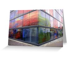 Decorated Glass Walls Greeting Card