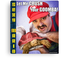 SexyMario MEME - Let Me Crush Your Goomba! 3 Canvas Print