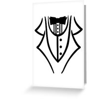 Black tuxedo Greeting Card