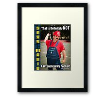 SexyMario MEME - That Is Definitely Not A Wrench In My Pocket 1 Framed Print