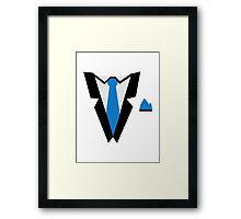 Tuxedo tie Framed Print