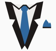 Tuxedo tie One Piece - Short Sleeve