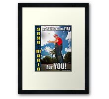 SexyMario MEME - My Balls Are On Fire For You 2 Framed Print