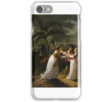 AFTER JEAN-FRÉDÉRIC SCHALL - FRENCH, STRASBOURG 1752 - PARIS 1825 SCENE FROM THE STORY OF PAUL AND VIRGINIE iPhone Case/Skin