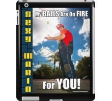 SexyMario MEME - My Balls Are On Fire For You 2 iPad Case/Skin