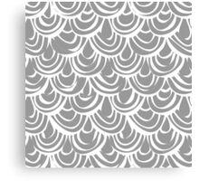 monochrome scallop scales Canvas Print