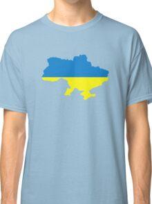 Ukraine map flag Classic T-Shirt