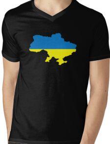 Ukraine map flag Mens V-Neck T-Shirt