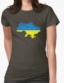 Ukraine map flag Womens Fitted T-Shirt