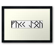 fuck rune version Framed Print